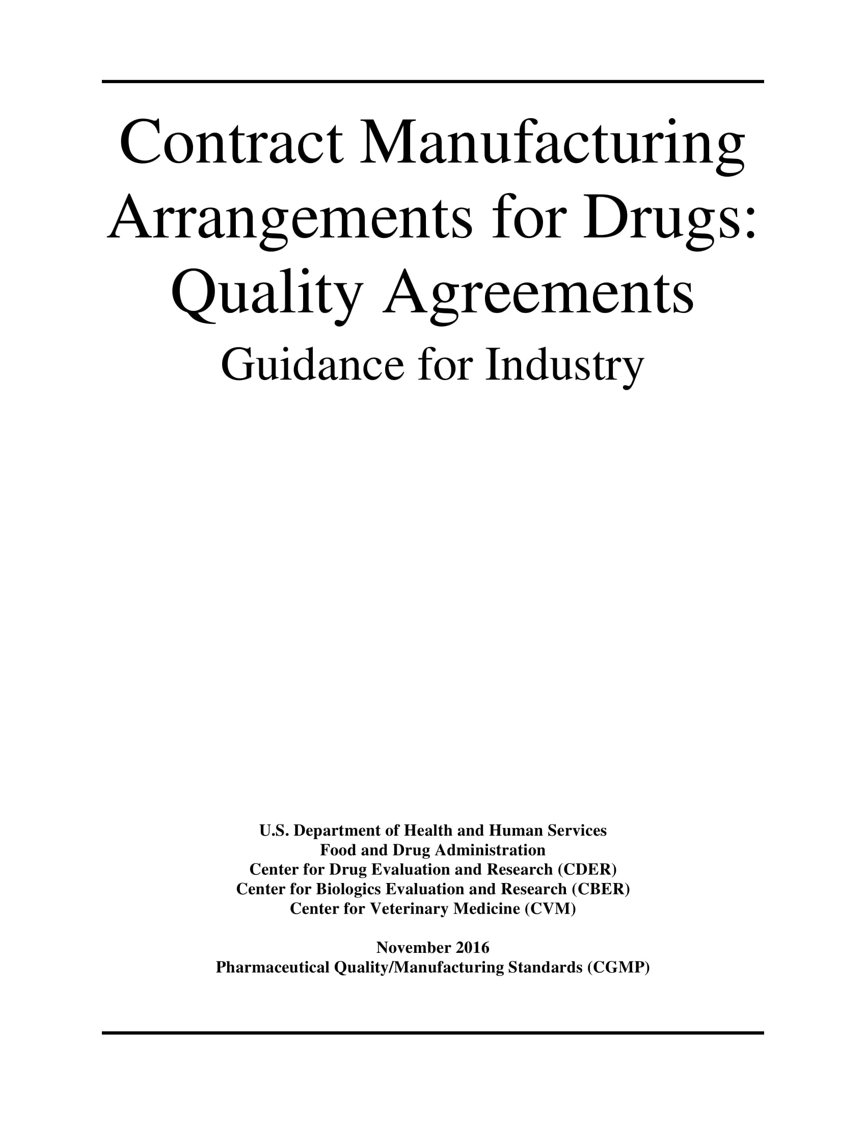 contract manufacturing arrangement for drugs quality agreements guidance for industry example 01