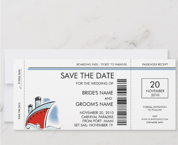 cool boat boarding pass invitation ticket example1