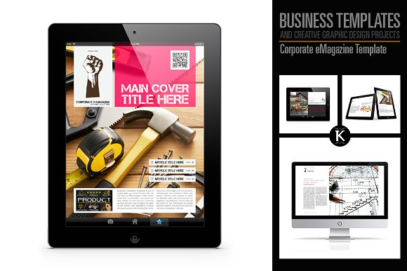 corporate e magazine template