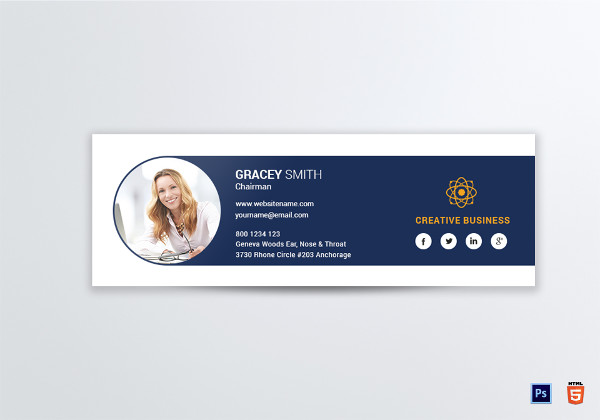 creative business email signature template