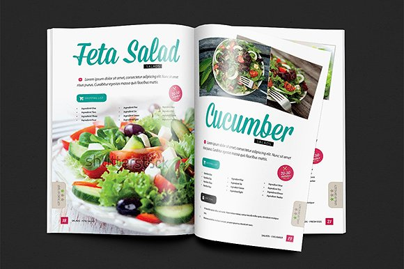 creative cookbook catalog design