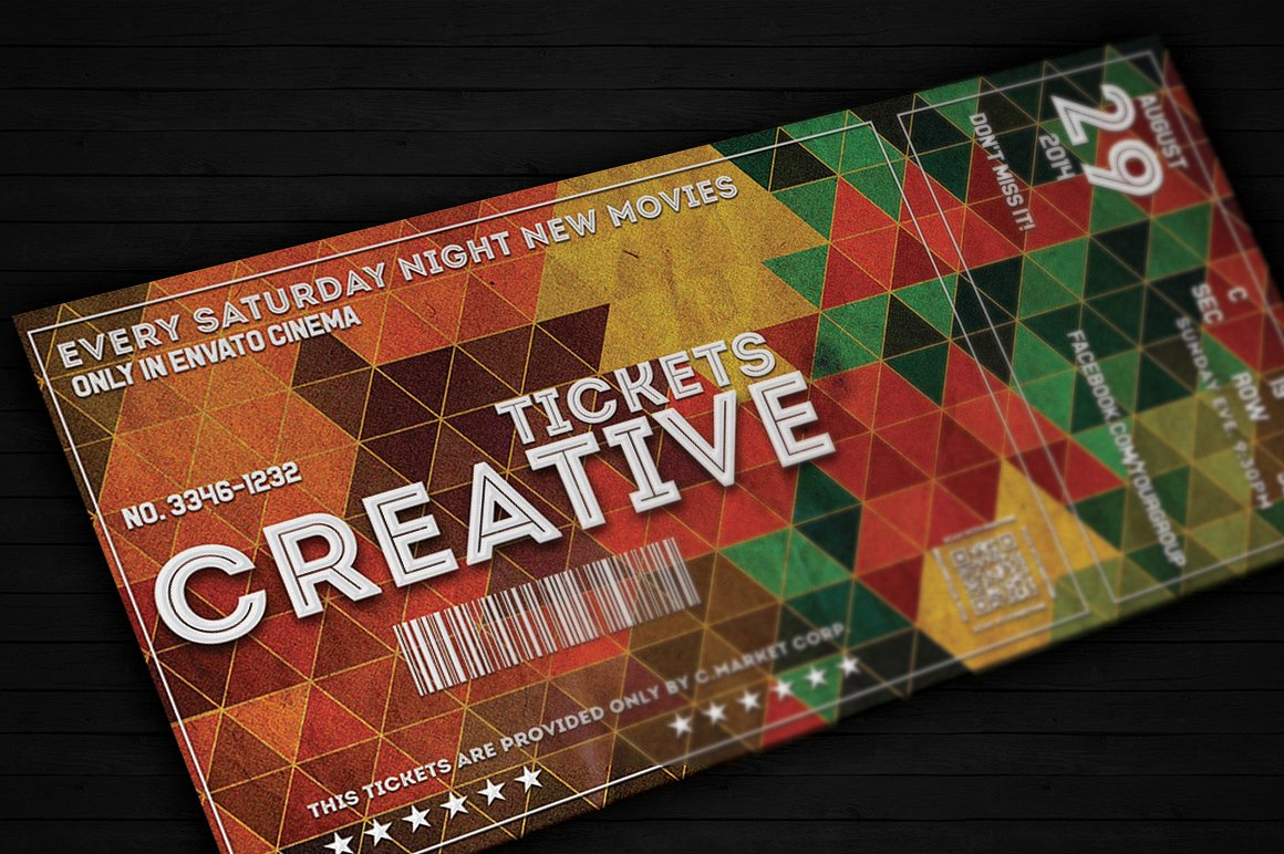 creative event ticket example