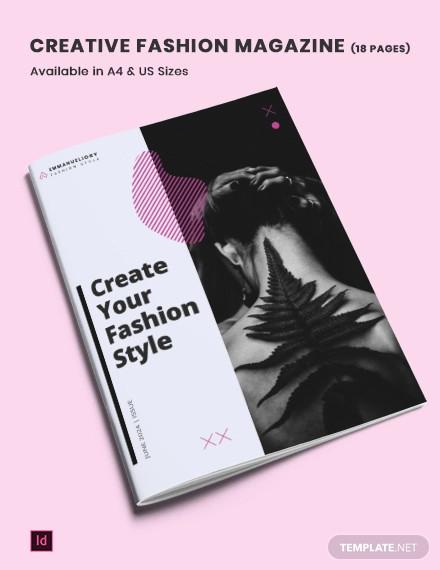 creative fashion lifestyle magazine template