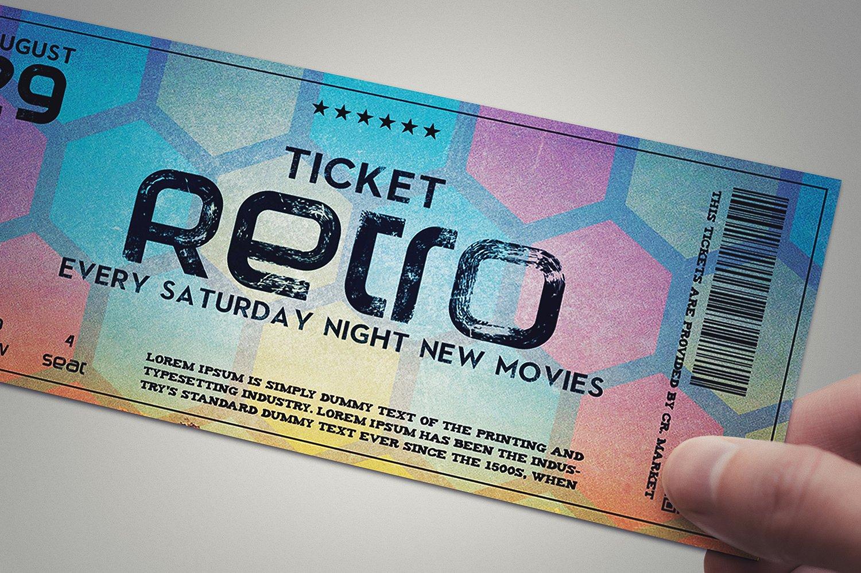 creative retro event ticket example
