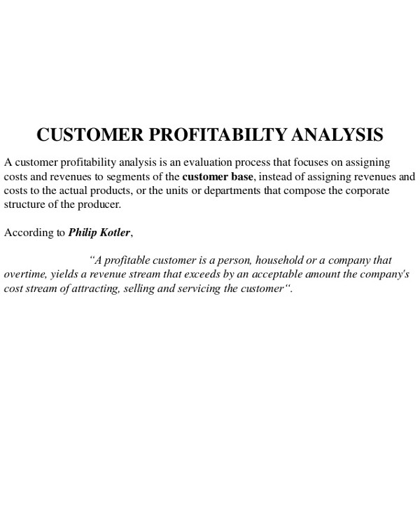 customer profitability analysis definition1