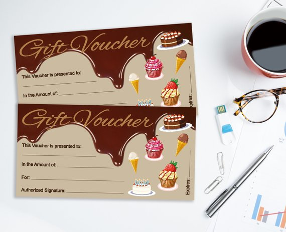 cute dessert restaurant lunch coupon example