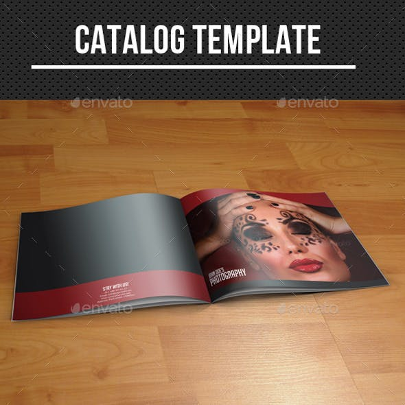 daring and exotic photography catalog design sample