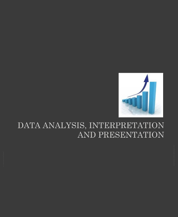 data analysis interpretation and presentation format example