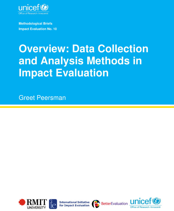 data collection and analysis methods in impact evaluation example