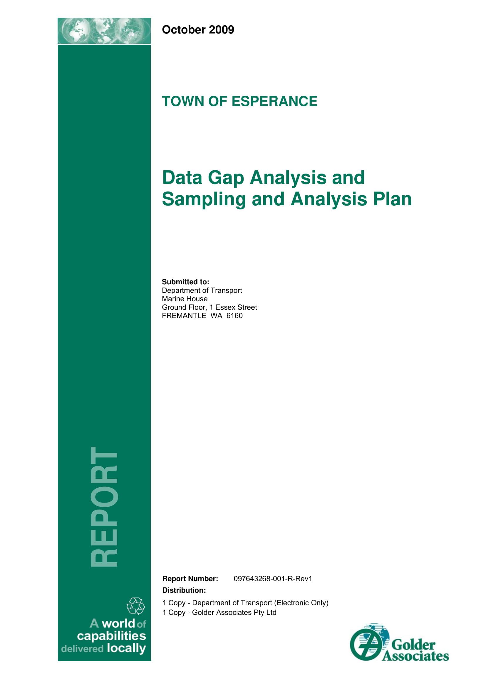 data gap analysis and sampling and analysis plan example 001