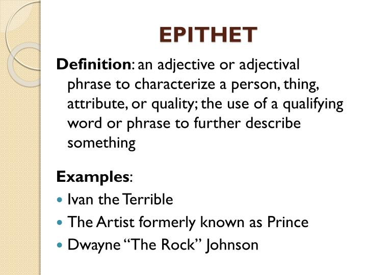 26+ epithet examples pdf | examples.