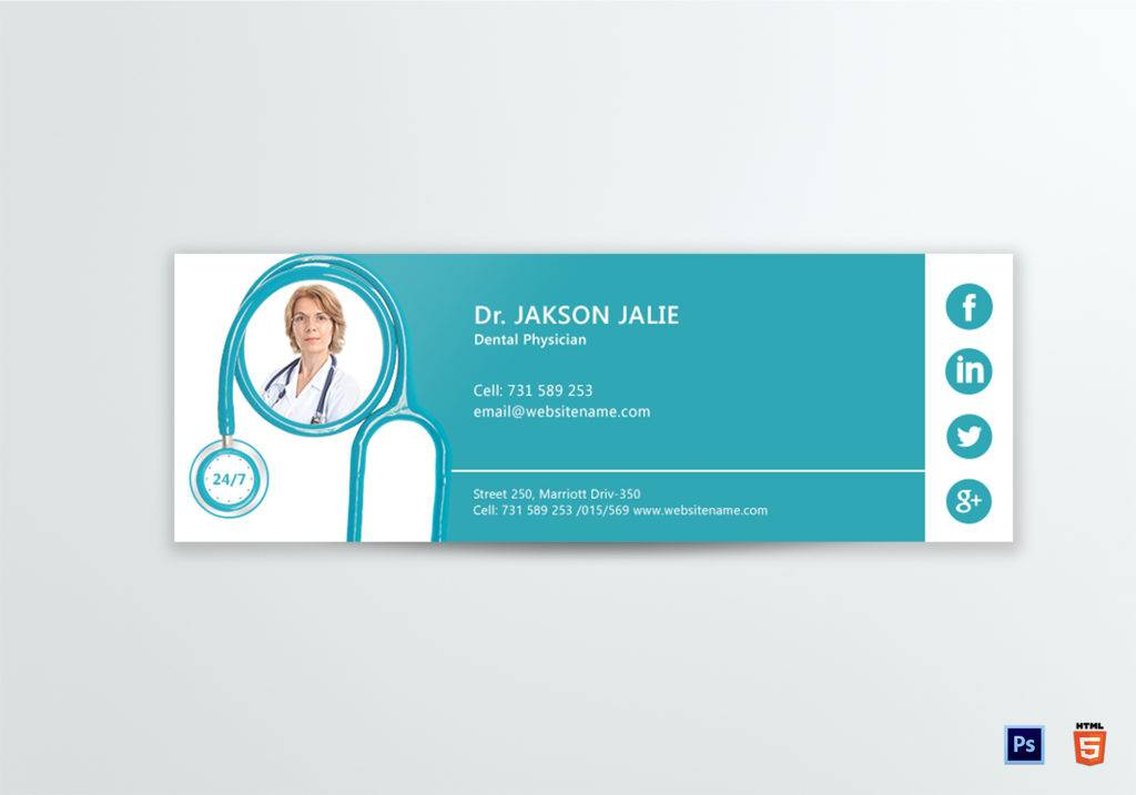 dental doctor email signature example 1024x717