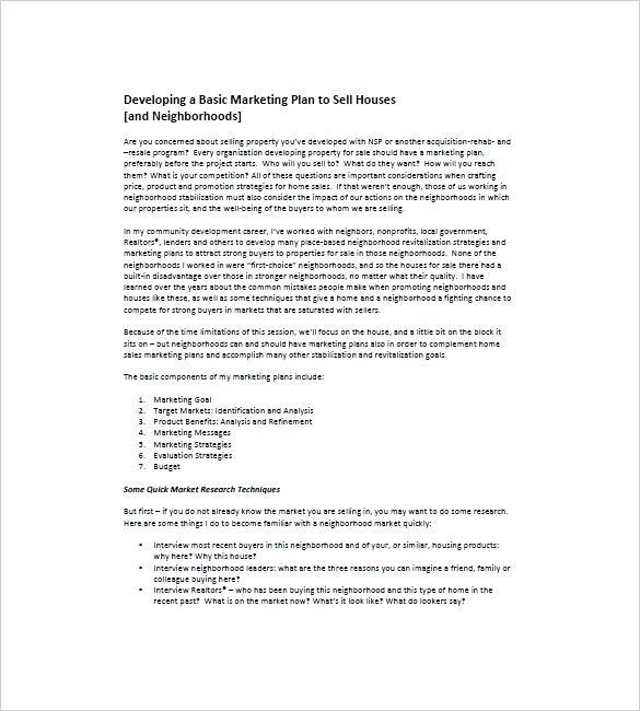 developing a basic marketing business plan