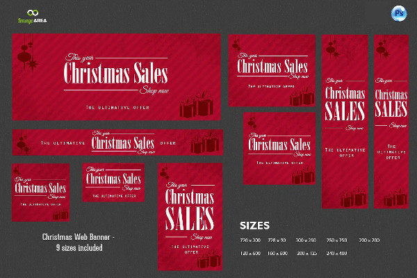 digital christmas web banner example