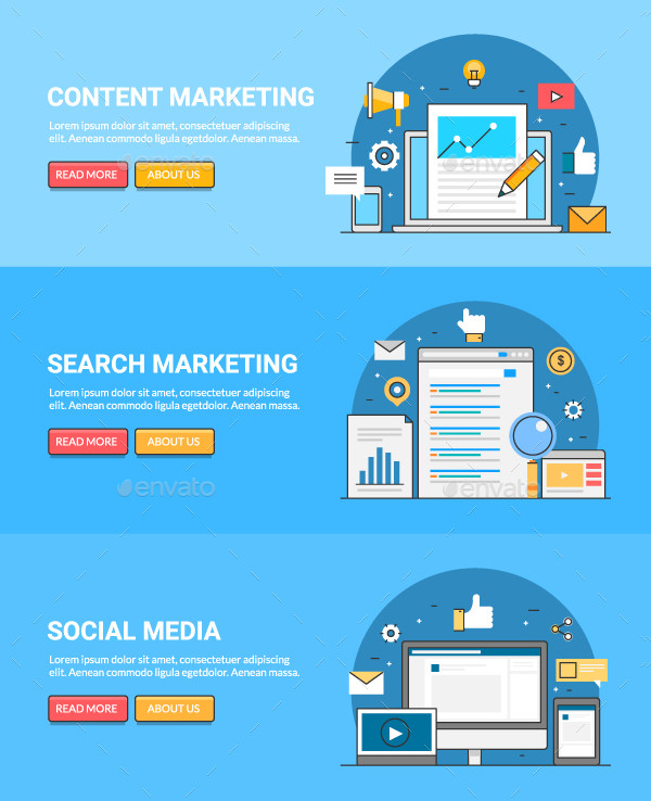digital content marketing banner example