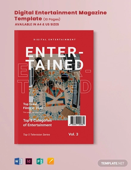 digital entertainment magazine template