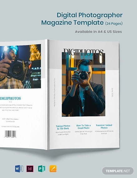 digital photographer magazine template