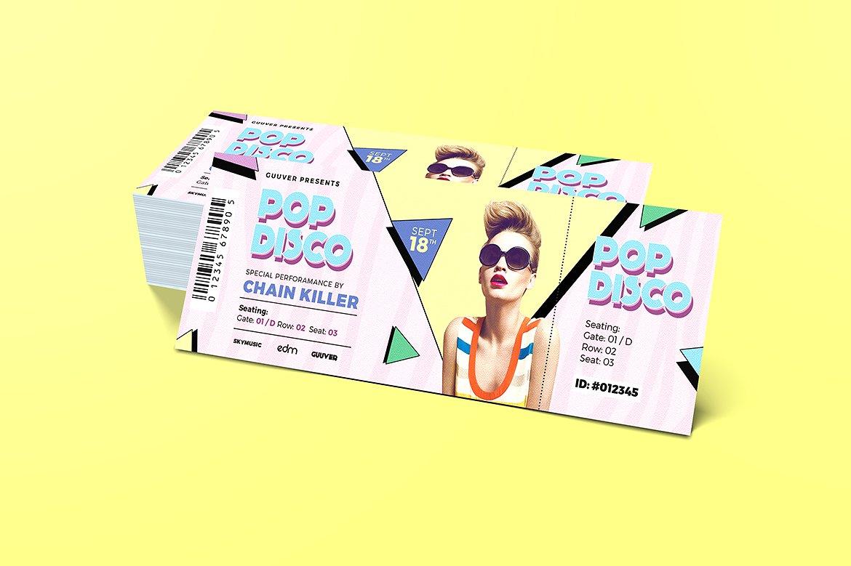 disco pop event ticket example