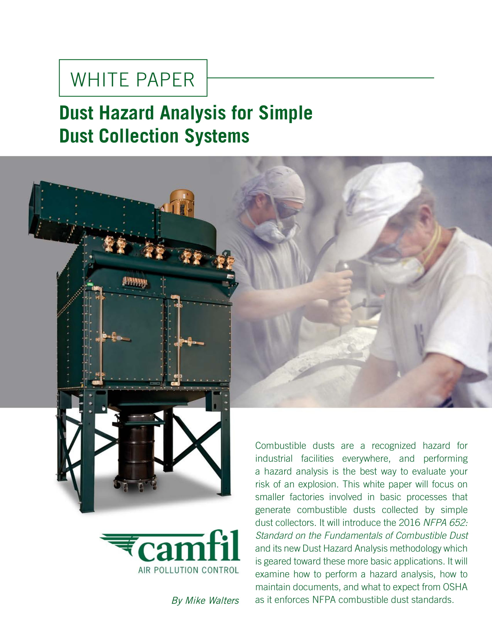 dust hazard analysis for simple dust collection systems