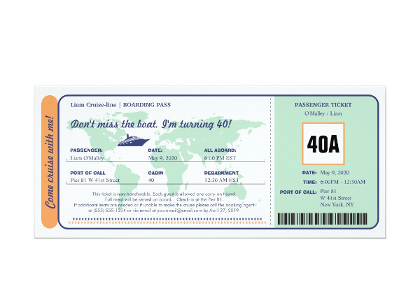 easy edit boat boarding pass invitation ticket example1