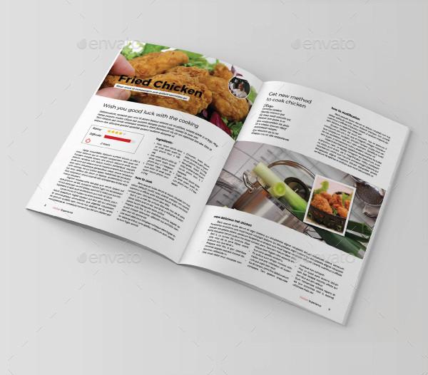 easy edit printable cookbook catalog example1
