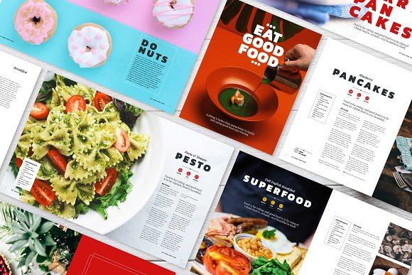 eat good food cookbook catalog template