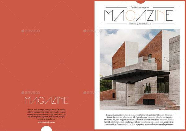 editable architecture magazine template example