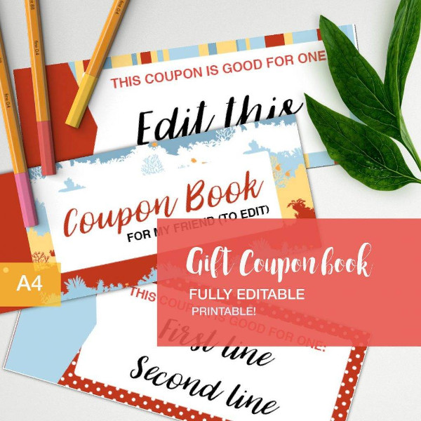 editable gift coupon book example