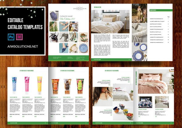 editable home decor catalog templates