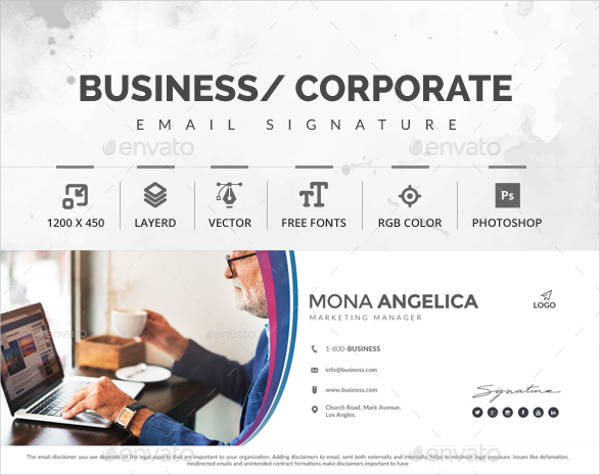 editable marketing manager email signature design example