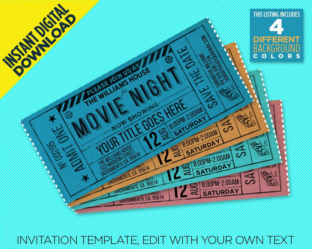editable movie ticket example