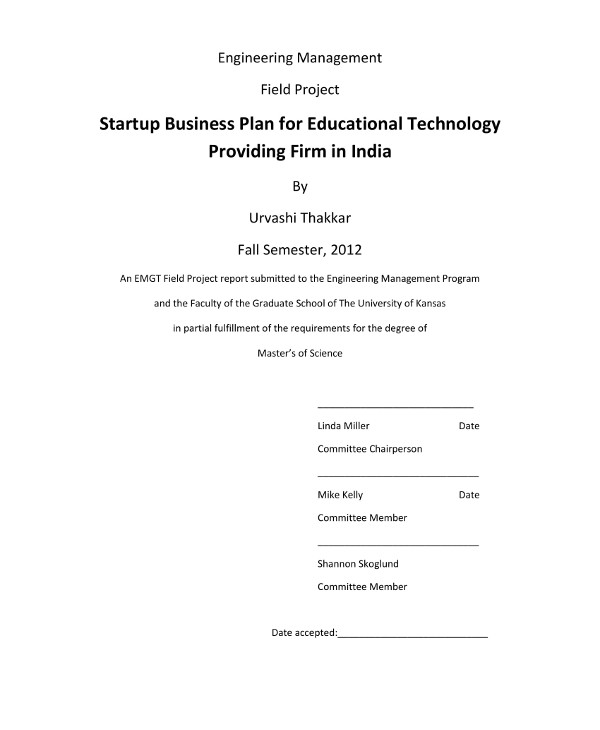educational tech startup business plan example1