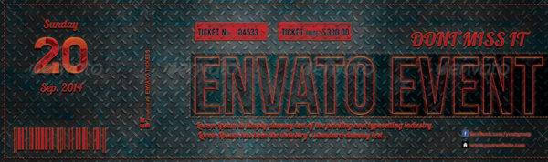 elegant carbon event ticket design example