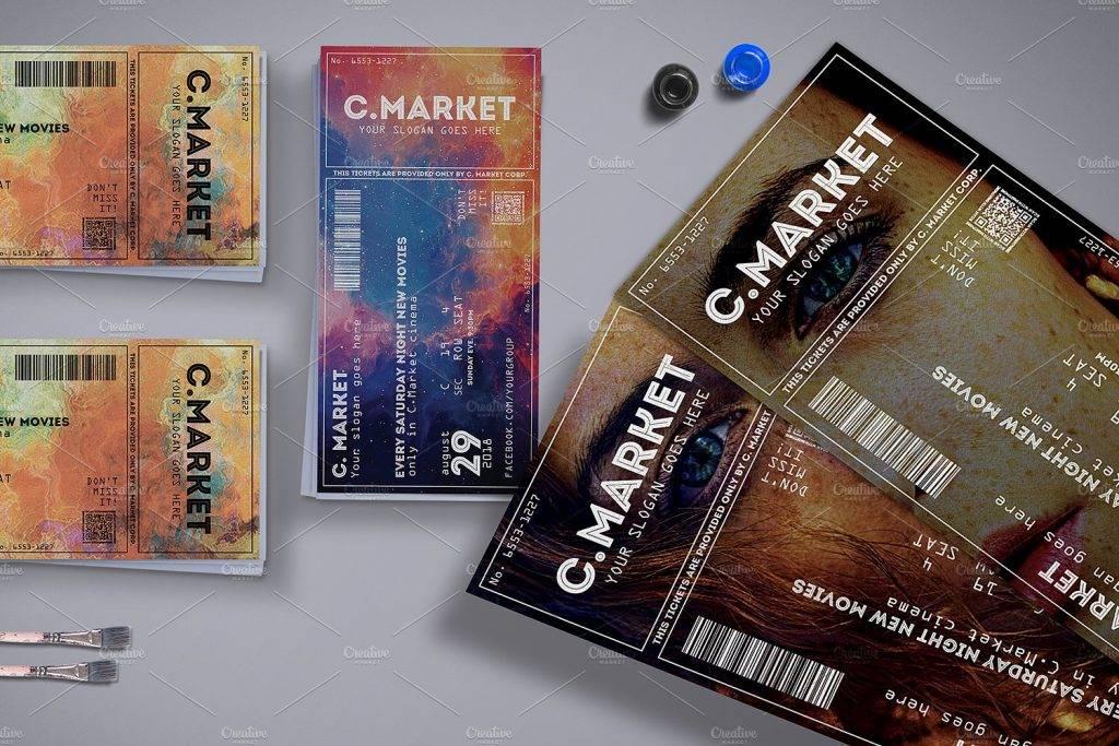 elegant creative event ticket example 1024x683