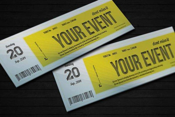elegant event ticket example