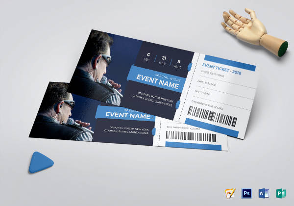 elegant event ticket template1