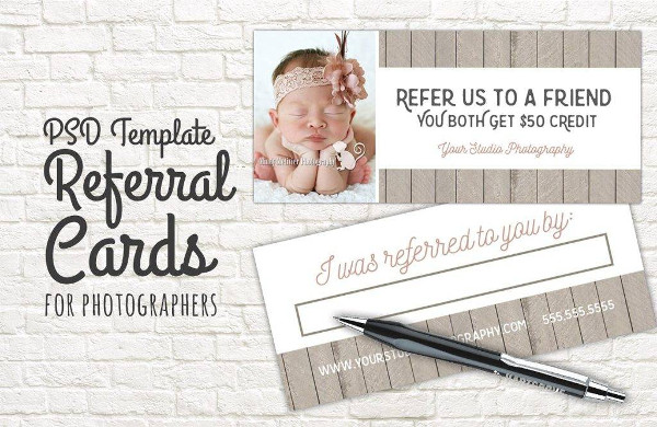 elegant photography referral coupon template example