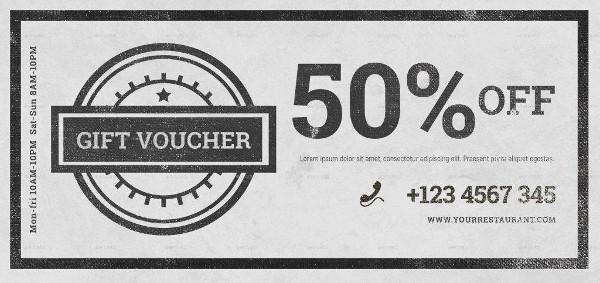 elegant vintage voucher example