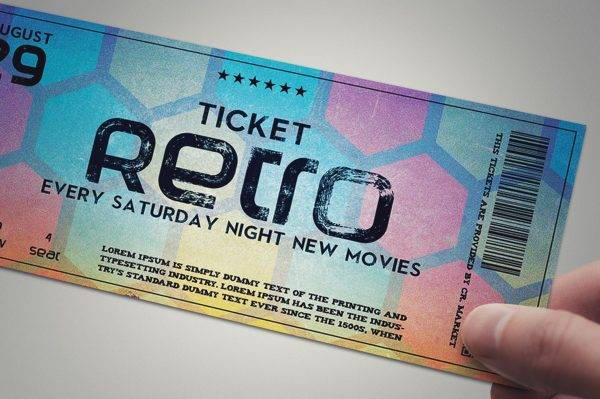 elegant and stylish retro ticket design