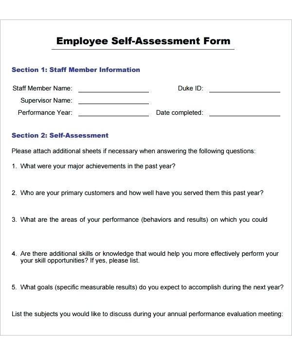employee self assessment form1