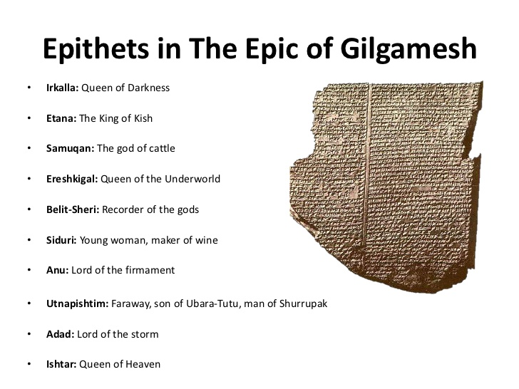 epithets in the epic of gilgamesh
