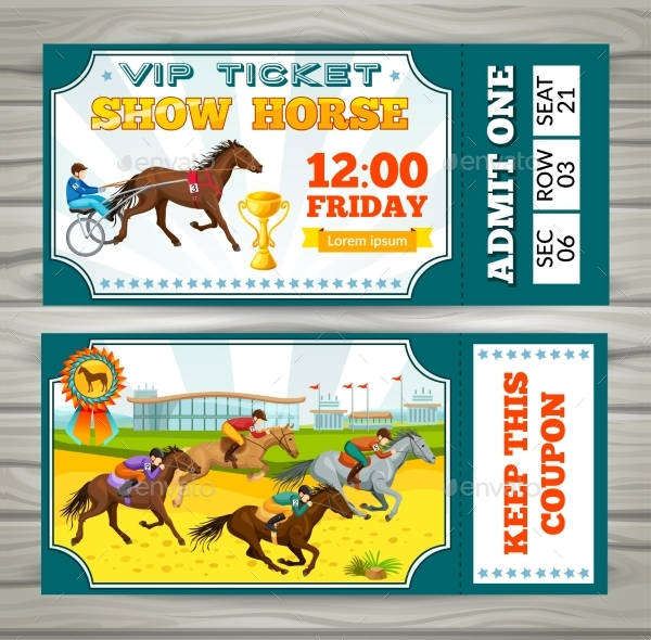 equestrian show pass ticket example