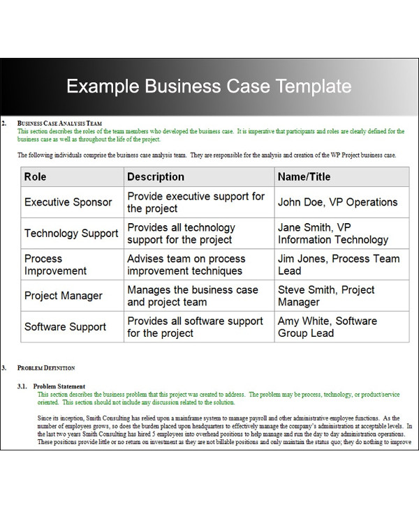 example business case analysis template1