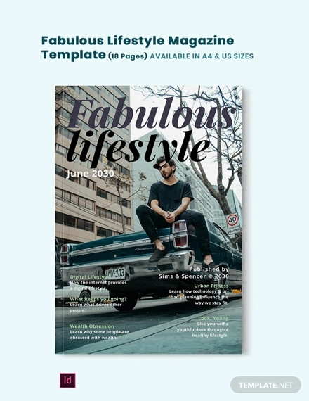 fabulous lifestyle magazine template