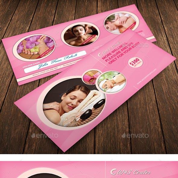 feminine spa voucher design