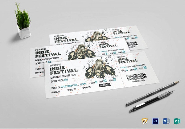 festival concert ticket template1