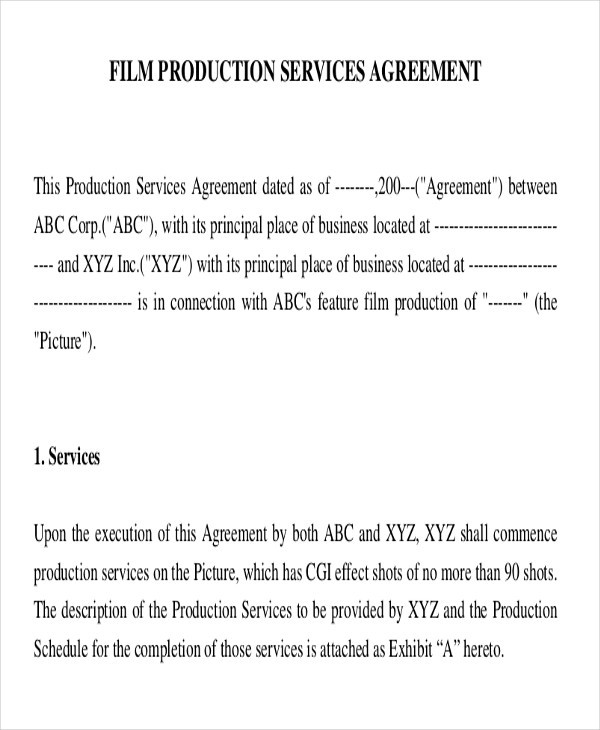 film production services agreement1