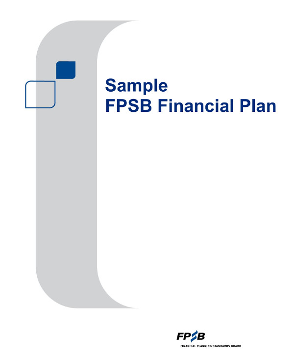 financial plan format example