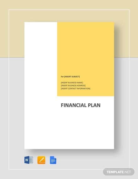 Free 11 Financial Plan Examples Samples In Pdf Word