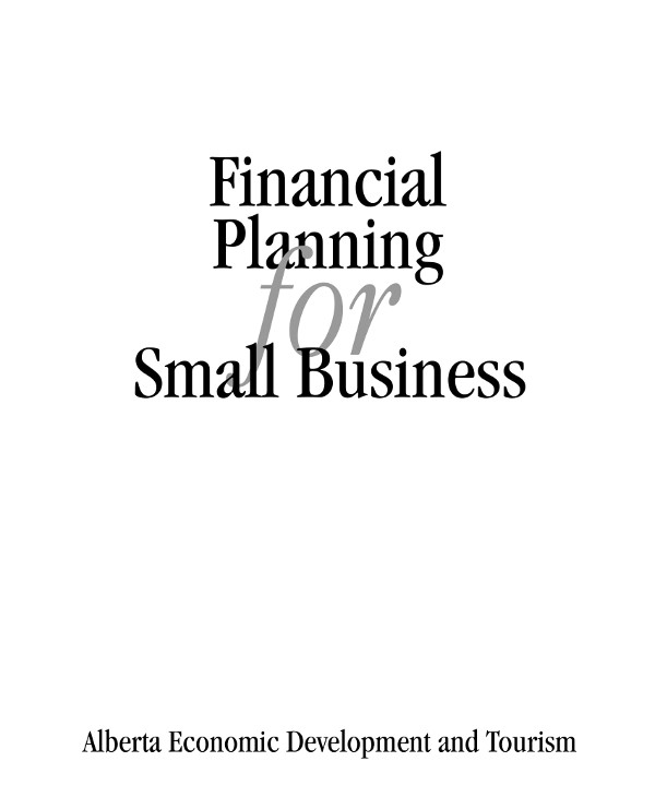 financial planning for small businesses guidelines and layout example